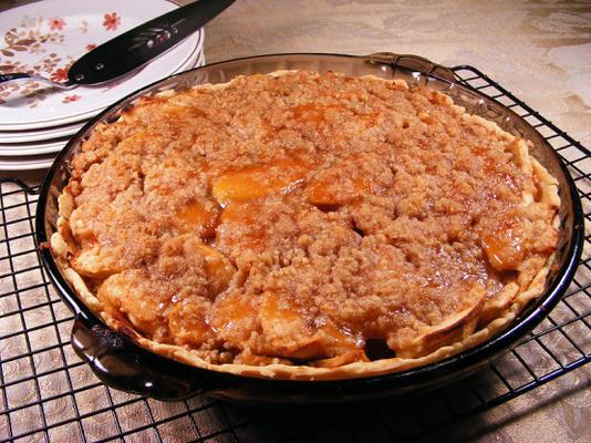 torta de migalha de caramelo-maçã