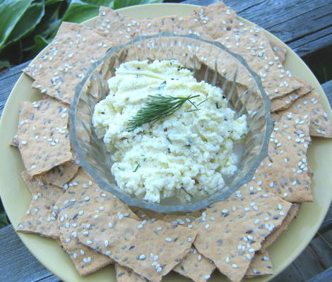 mergulho de queijo feta - estilo do Oriente Médio
