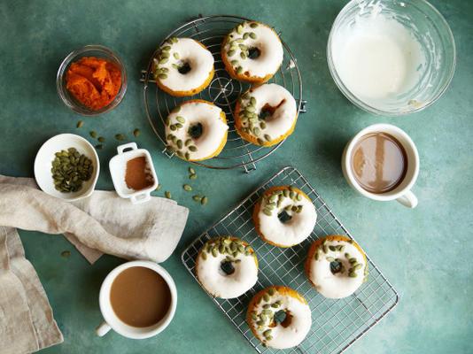 donuts assados de abóbora