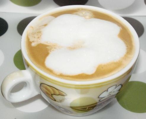 espuma de café no microondas
