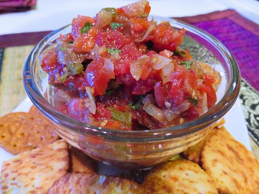 salsa de tomate temperada indiana