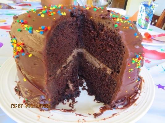 bolo de aniversário favorito fudge