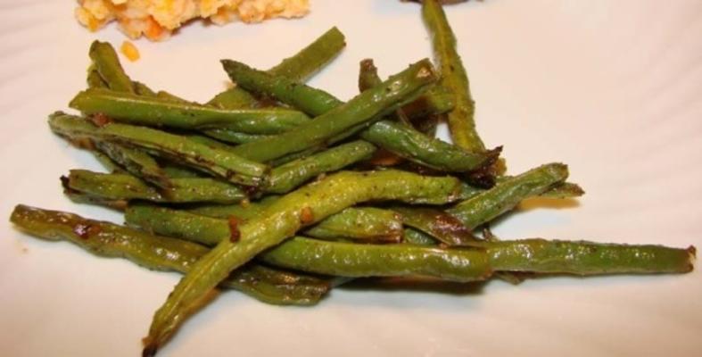 feijão verde assado no gengibre