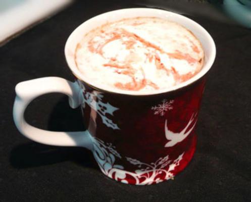 latte de trufa de framboesa