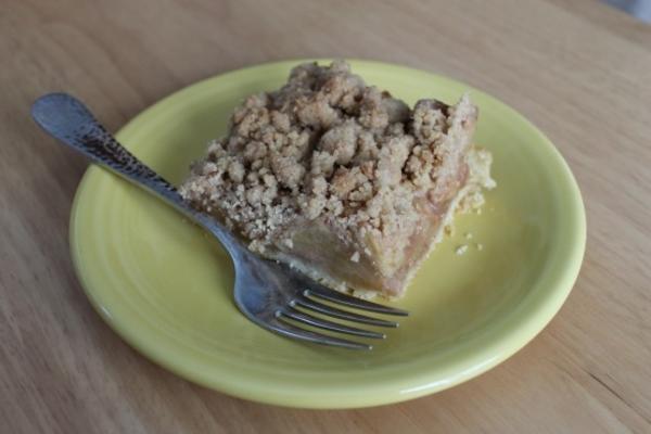 barras de torta de maçã holandês