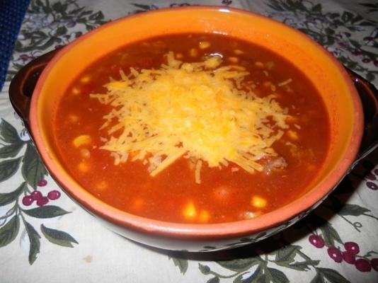 sopa de taco-pimentão fogão lento