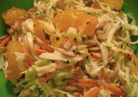 salada de cole de frutos de girassol