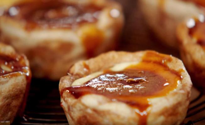 tortas portuguesas do creme de jamie oliver