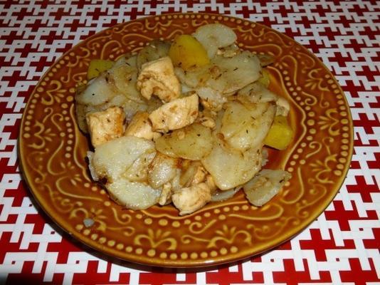 frigideira de frango e batata doce e picante sp5