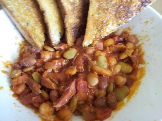 feijões cozidos australianos caseiros