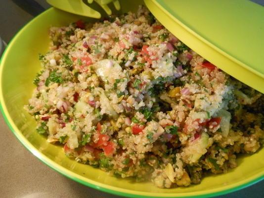 pistachio e quinoa tabbouli (sem glúten)