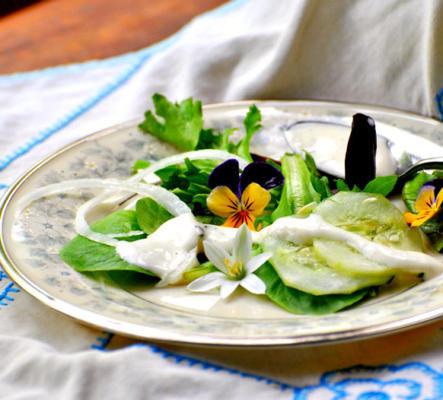 molho de salada de ervas frescas cremosas