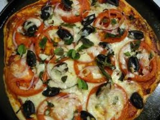 receita base de pizza fácil e incrível