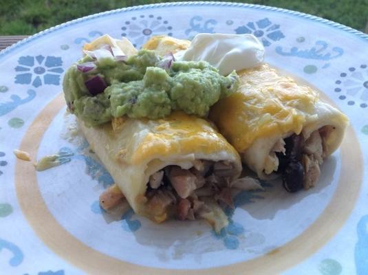 enchiladas de frango chilie verde