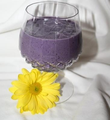 smoothie de frutas de iogurte