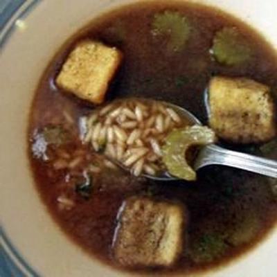 sopa de arroz simplesmente delicioso