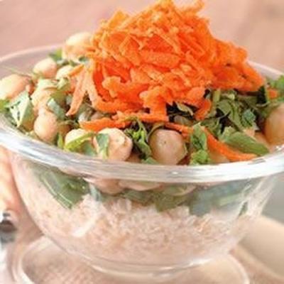 salada de grão de bico bulgur
