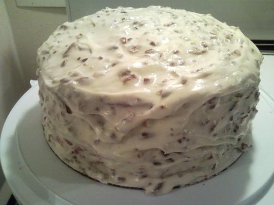 bolo de veludo vermelho da senhorita w / cream cheese frosting
