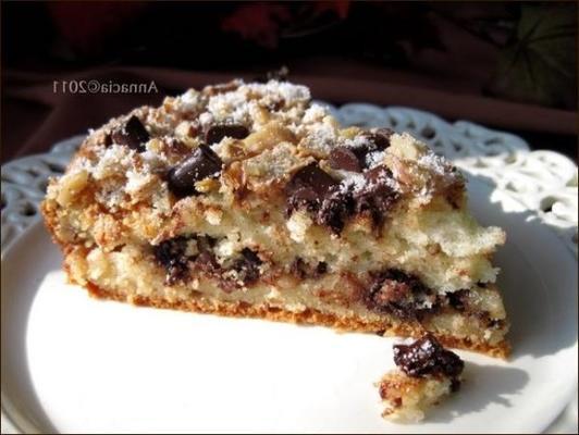 pedaço de chocolate bolo de café