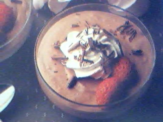 mousse de chocolate suíço