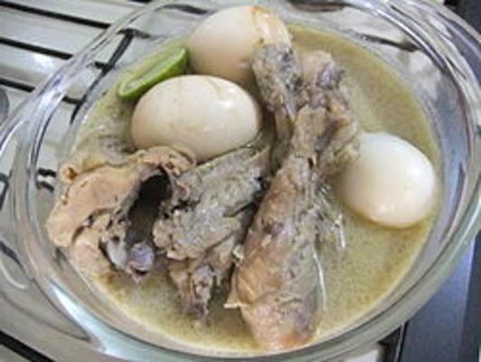 frango indonésio em molho de coco (opor ayam)