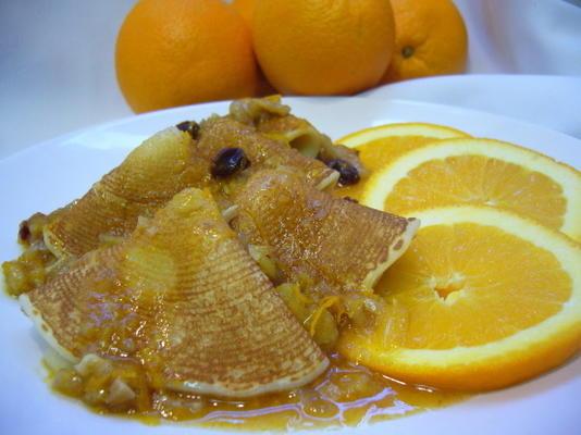 panquecas de noz laranja