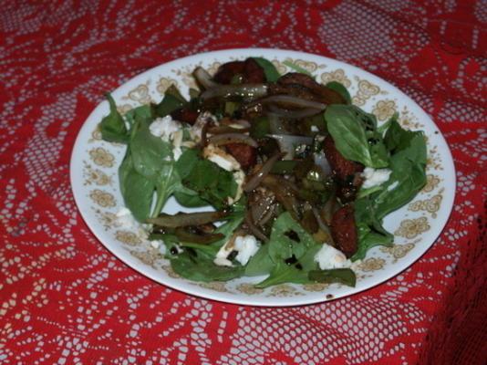 salada de espinafre crioulo
