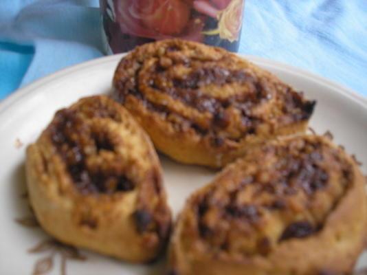 biscoitos de redemoinho de canela