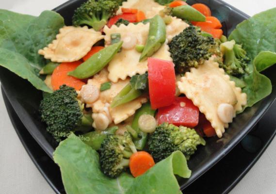 salada de ravióli, amigável diabético