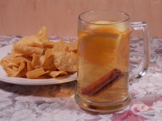 quente natal cidra de maçã soco