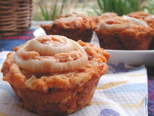 muffins de frango ao curry