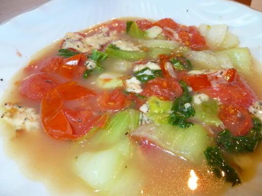 erva-doce assada com tomate e tomilho