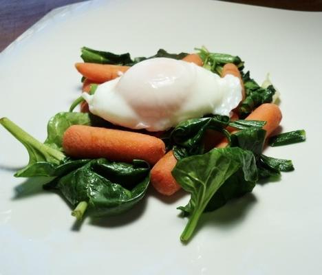 cenoura e espinafre stirfry