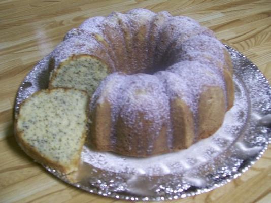 bolo de sementes de papoula limão coração saudável