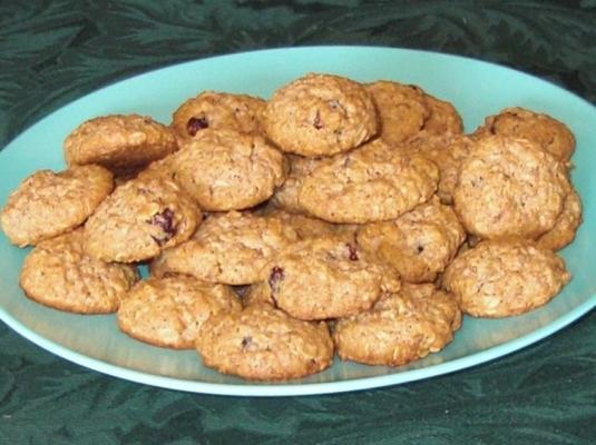 biscoitos de aveia com baixo teor de gordura e amora