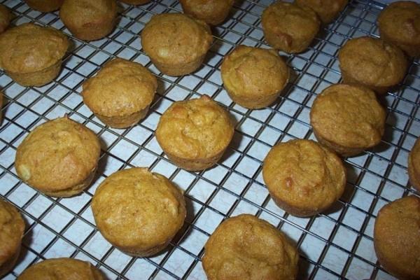 mini muffins de abóbora-limão