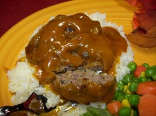 hambúrgueres e arroz