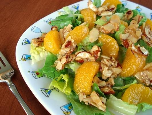 salada de amêndoa laranja wendy