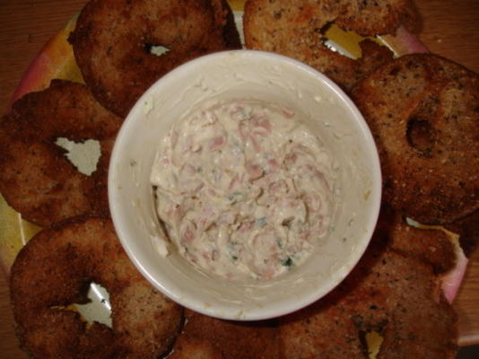 Chips de bagel de alho e ervas