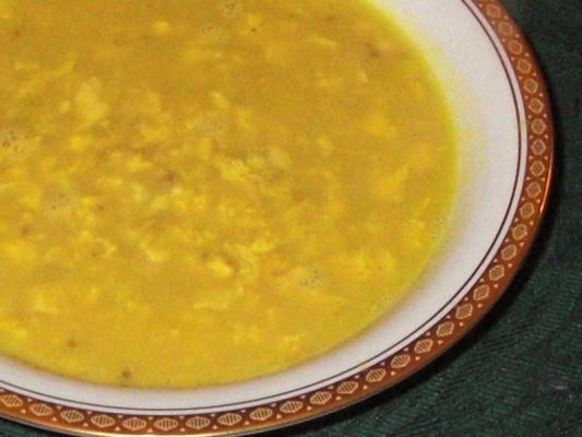 sopa de cúrcuma