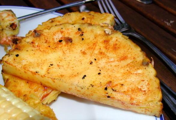 Delícia grelhado abacaxi de alton brown