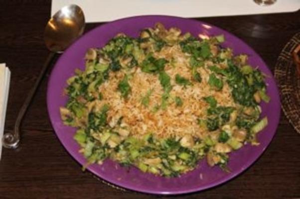 arroz frito vegan com bok choy