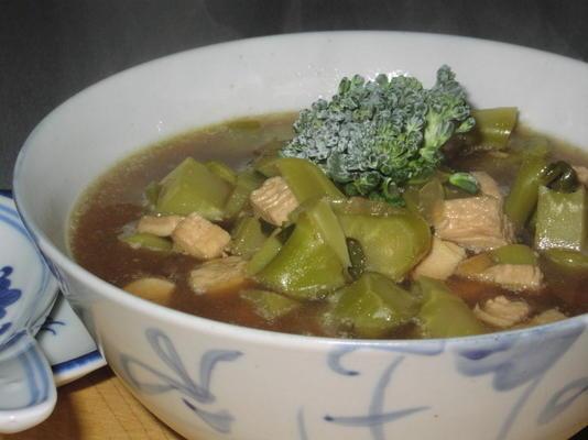 sopa de galinha de brócolis (hcg - fase 2)