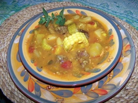 carbonada criolla - argentina carne, veg, ensopado de frutas