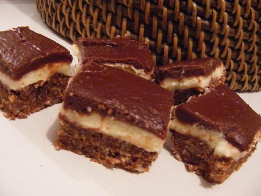barras de creme de manteiga de chocolate