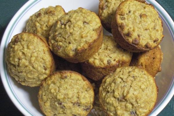muffins de aveia de limão pecã