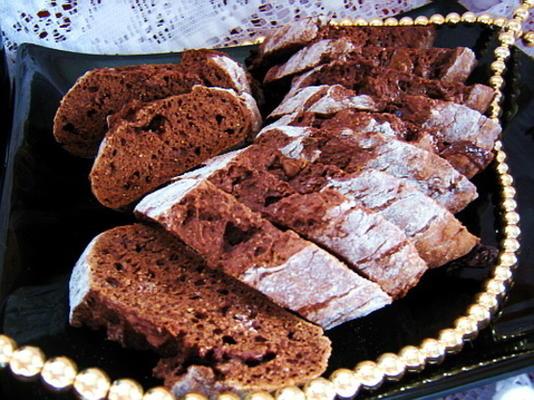 biscotti saudável de chocolate de baixa caloria