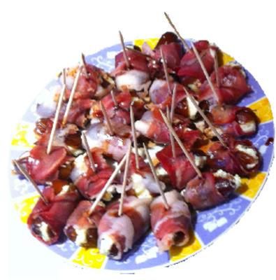 datas recheadas envoltas em bacon