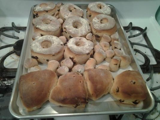 raisin-canela fermento donuts