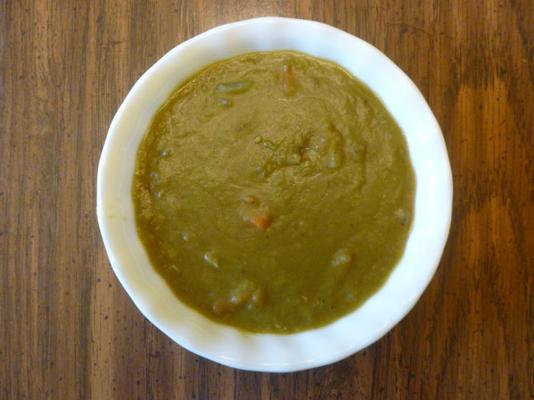 sopa de ervilha com xerez